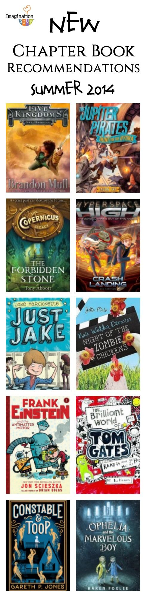 NEW chapter book recommendations for kids ages 8 and up from Melissa @ImaginationSoup