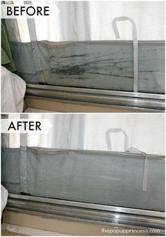 how to clean mildew off poptop caravan seals