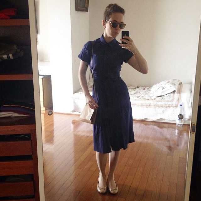 Ready for lunch with the grandparents #wiwt #ootd #femme #undercut #mirrorselfie #selfie #summer #WhatLLworeToday