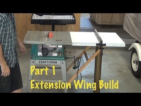 Extend Rip Capacity From 12 To 40 Extension Wing Build 1 Of 2 Diy Step By Step Table Saw Table Saw Easy Woodworking Projects Skil Table Saw