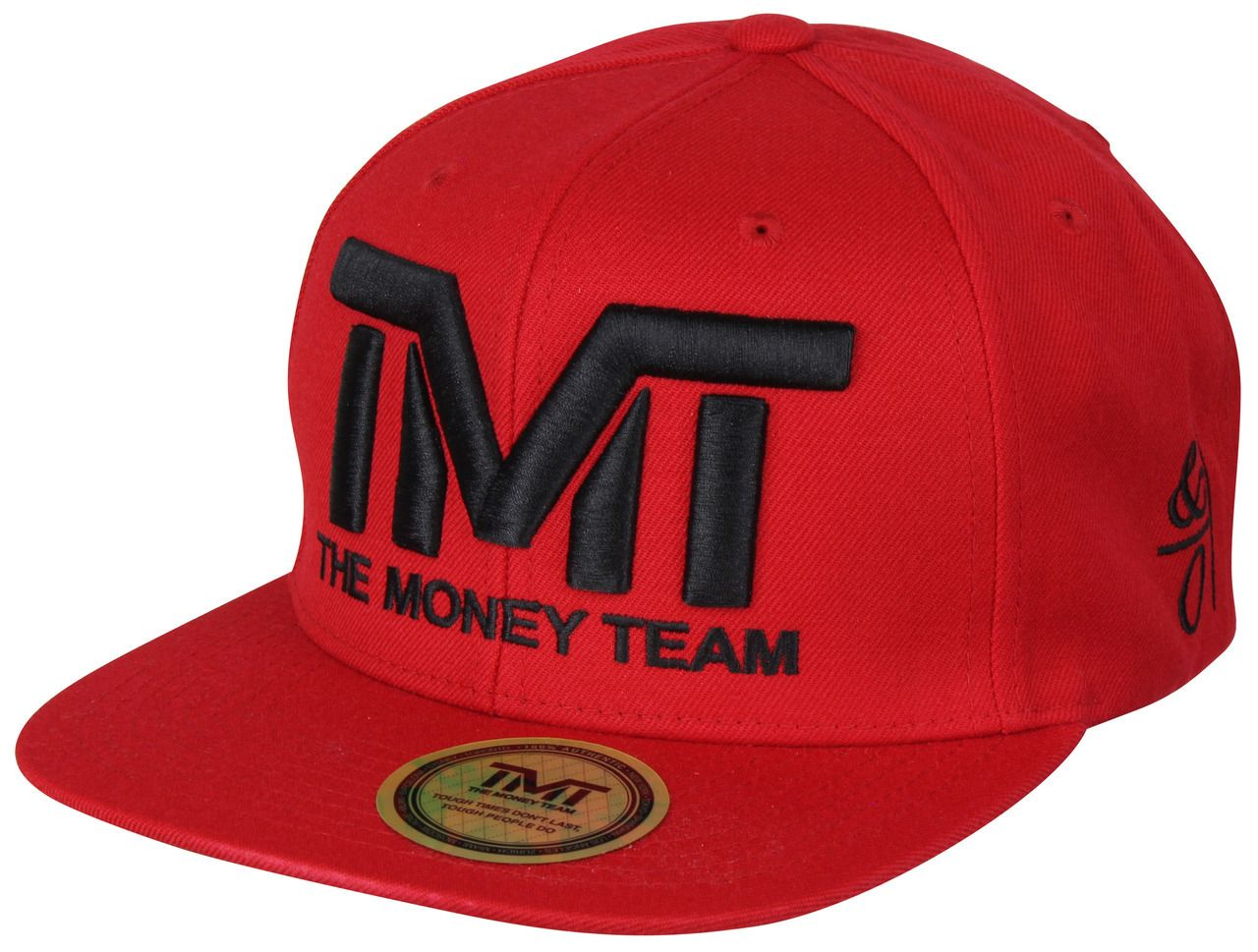 The Money Team TMT Floyd Mayweather Courtside Snapback Hat (Red Black) d853378ad18
