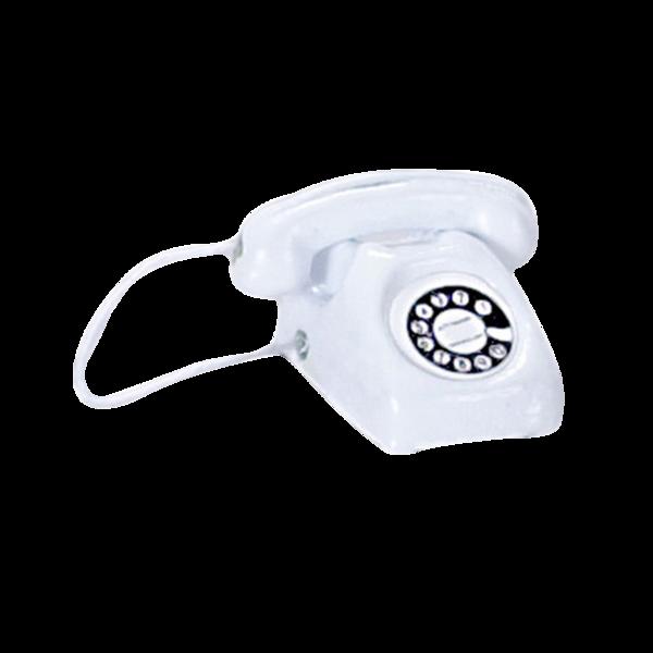 1 Inch Scale White Telephone Dollhouse Miniature #miniaturekitchen Miniature Kitchen – Real Good Toys #miniaturekitchen