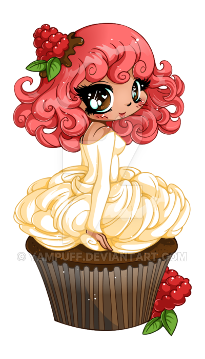 Raspberry Ganache Girl - Commission by YamPuff on DeviantArt