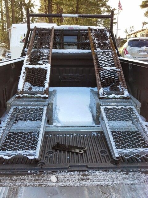 Superboxtruckramps Com Back View Of The Ramp This Ramp Is Easy To Handle And Can Be Operated By One Person Ramp Landscapetruck Ramp Loading Ramps Landscape
