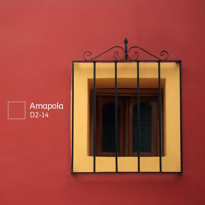 Amapola comex colores pinterest casas fachada de - Pintura color ladrillo ...