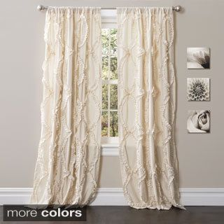 Lush Decor Belle 84 Inch Curtain Panel Pink Size 54 X Polyester Novelty
