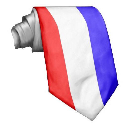Red White Blue Vertical Stripe Tie