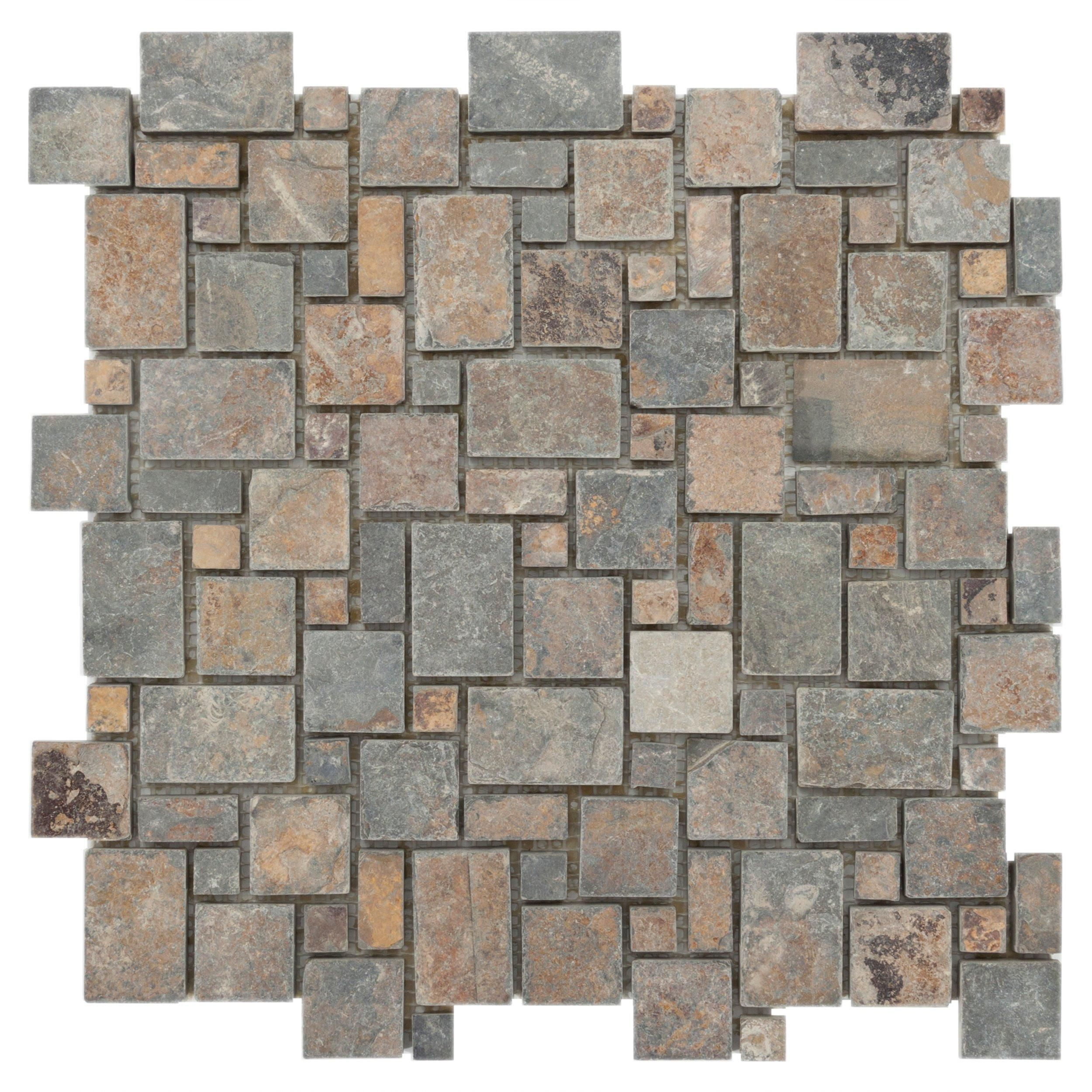 - Multicolor Pattern Slate Mosaic Slate Stone, Mosaic, Floor Decor