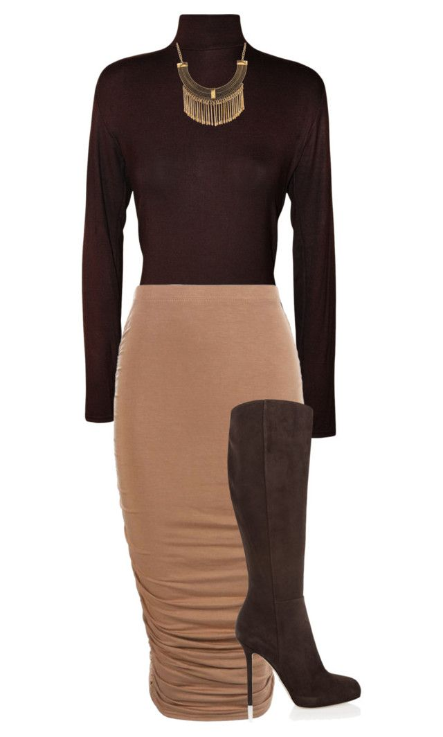 """""""Mocha """" by sharicelatray on Polyvore featuring WearAll, Ruby Rocks and Sergio Rossi"""