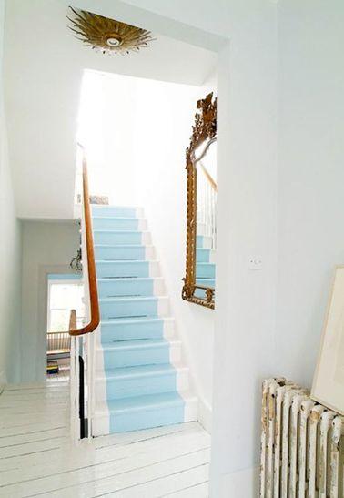 Quelle couleur pour repeindre un escalier ? - peindre un mur en bois