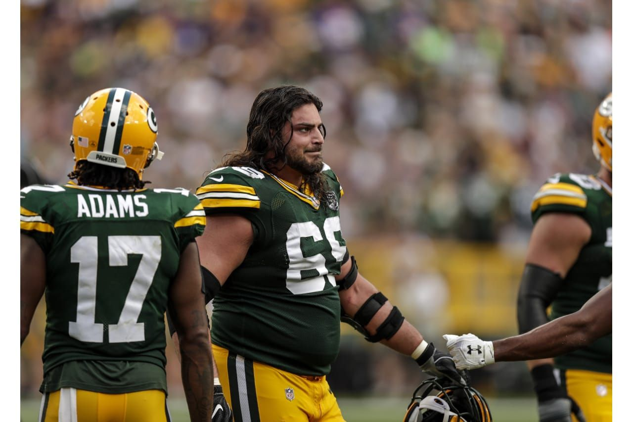 David Bakhtiari 9 16 2018 Green Bay Packers Football Helmets Football