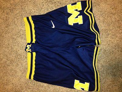 4f8f0edb9bb Vintage Nike Fab Five Michigan Basketball Shorts Sewn Size 38 XL | eBay