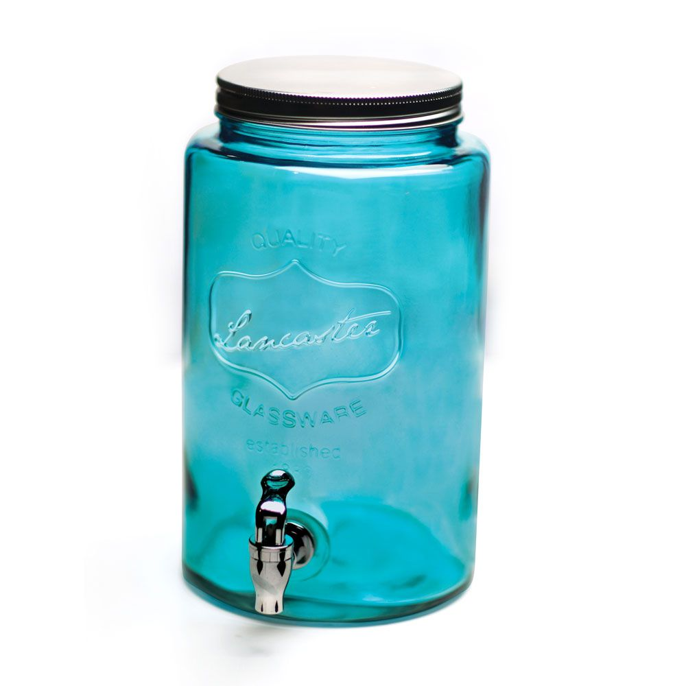 Blue Wave Mason Jar Drink Dispenser Mason Jar Drink