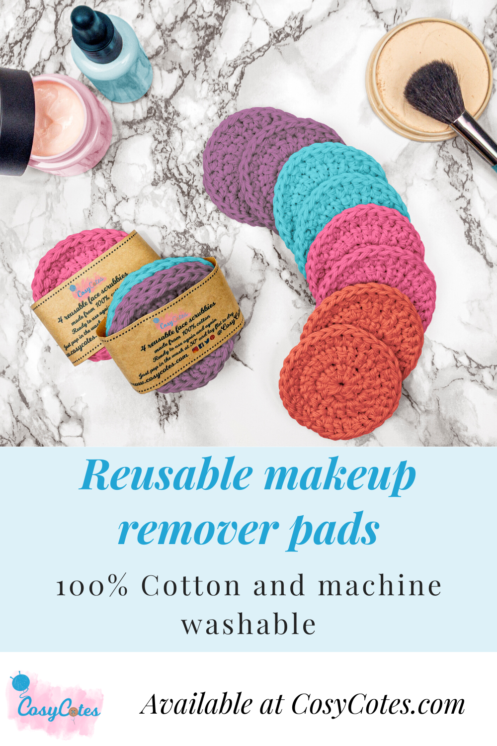 Eight bright face scrubbies CosyCotes in 2020 Makeup