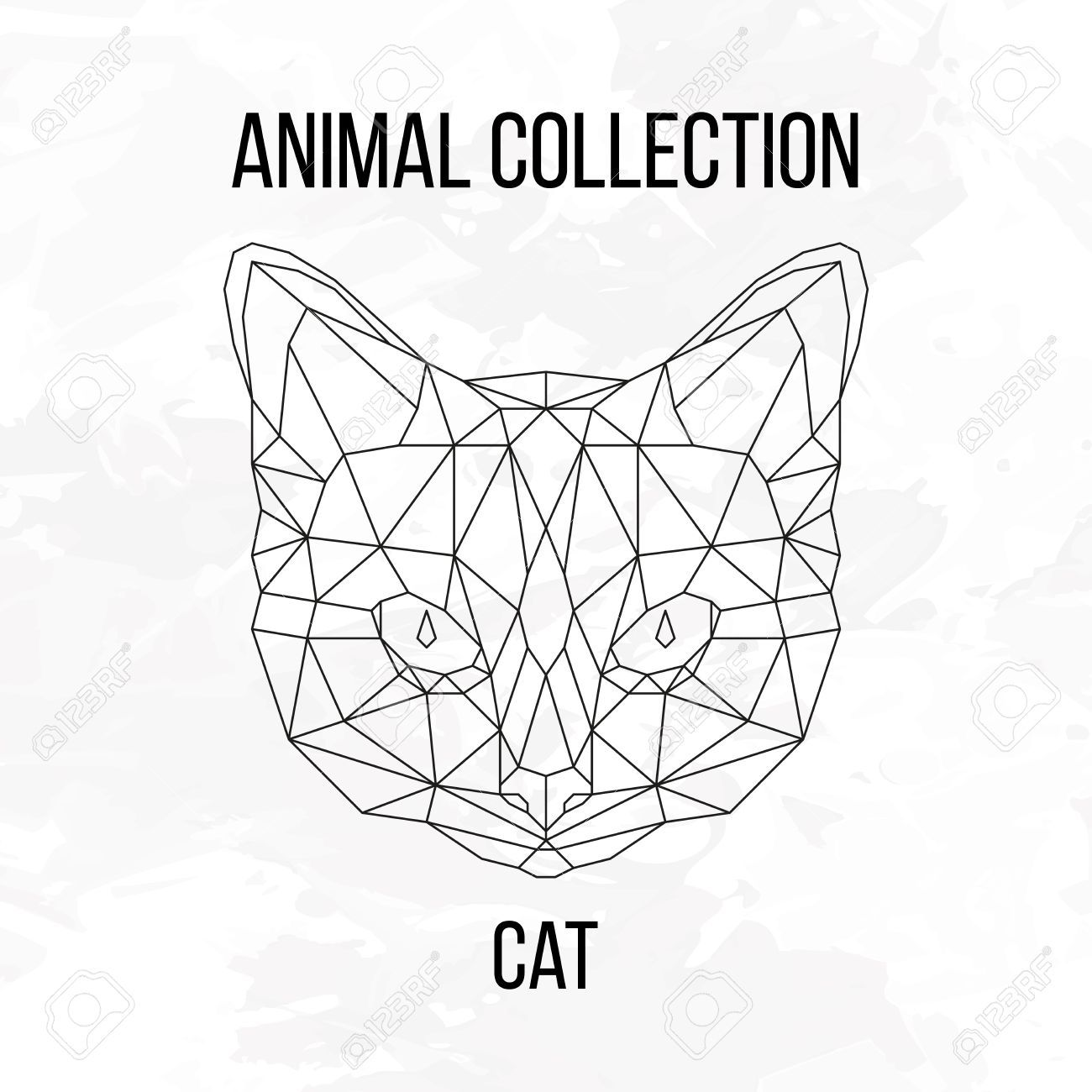 Geometric Animal Cat Head Background Royalty Free Cliparts Vectors And Stock Illustration Image 56015900 Geometric Cat Geometric Animals Geometric Drawing