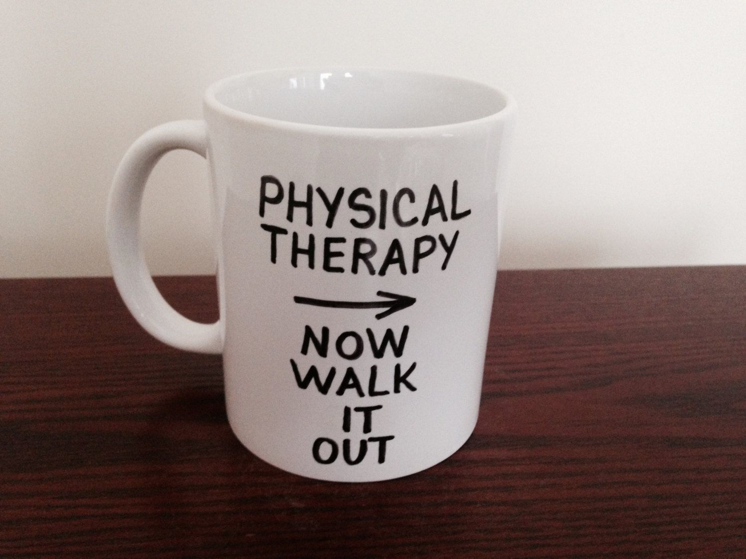 Walk it Out Physical Therapy Mug, Gift for Physical ...