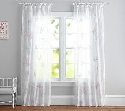 All Windows Pottery Barn Kids Sheer Panels Girl Room