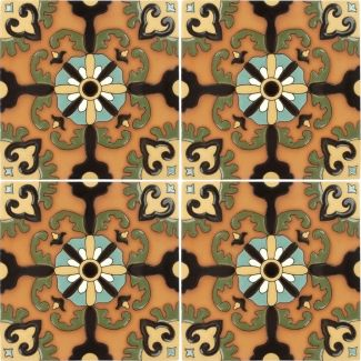 12 5 X 12 5 Rosario 2 With Terra Cotta Santa Barbara Floor Tile Painting Tile Floors Tile Floor Tiles
