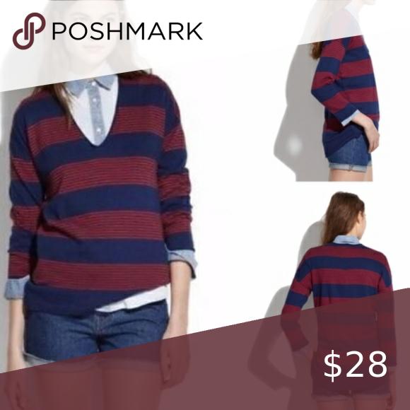 Madewell Deckhouse wool blend striped sweater