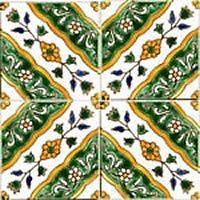 Mediterranean Spanish Ceramic Tiles Utica 6 X
