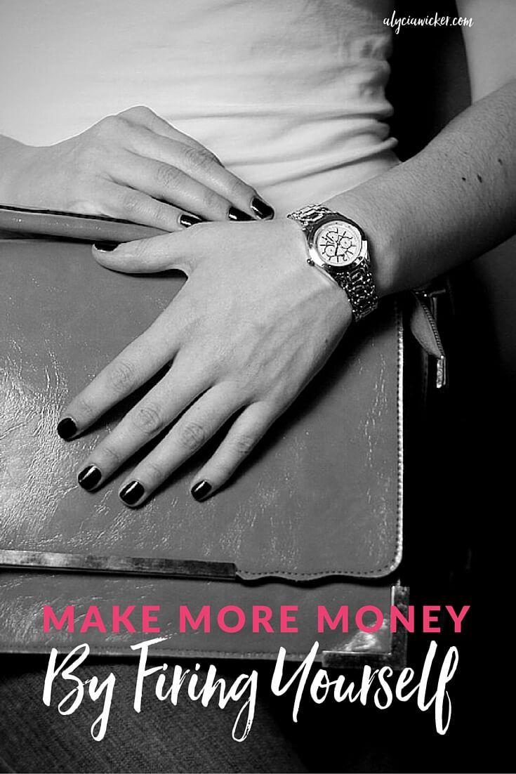Make More Money By Firing Yourself Make More Money Design Company Names Interior Design Business