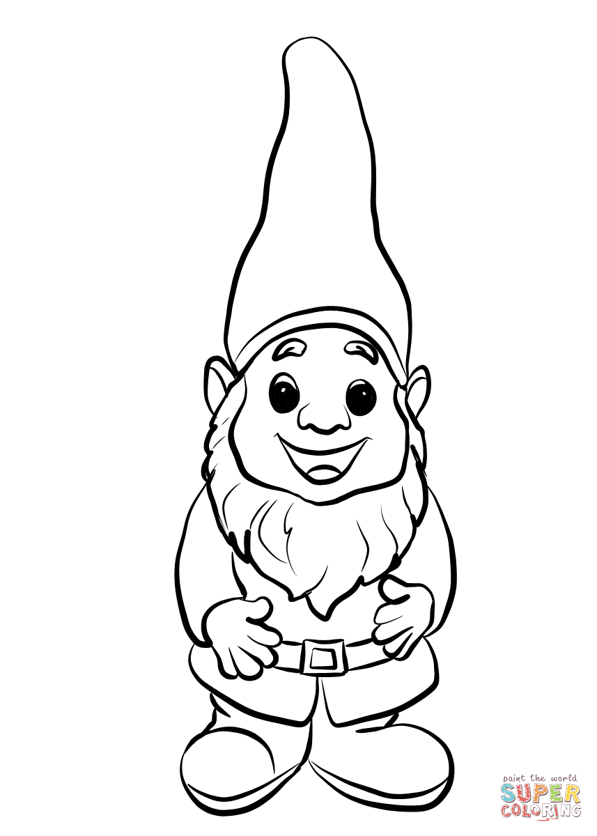 Cute Gnome Coloring Page Free Printable Coloring Pages In 2020 Fairy Coloring Book Coloring Pages Nature Fairy Coloring Pages