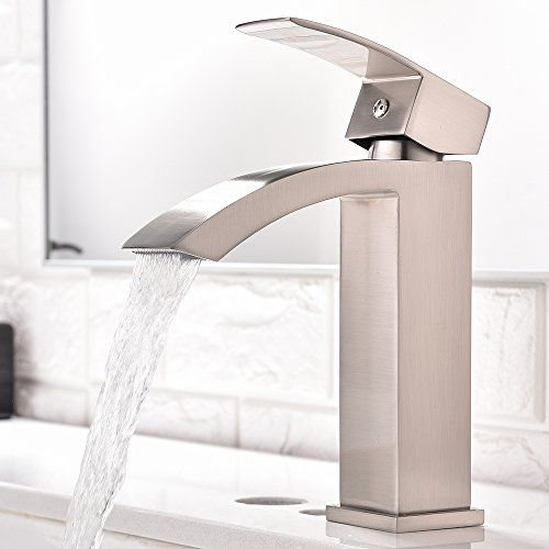 Single Handle Waterfall Bathroom Vanity Sink Faucet with ... https ...