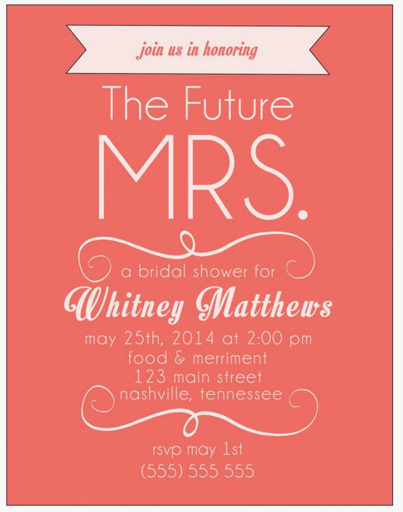 Free Bridal Shower Invitations | Pinterest | Wedding blog, Bridal ...