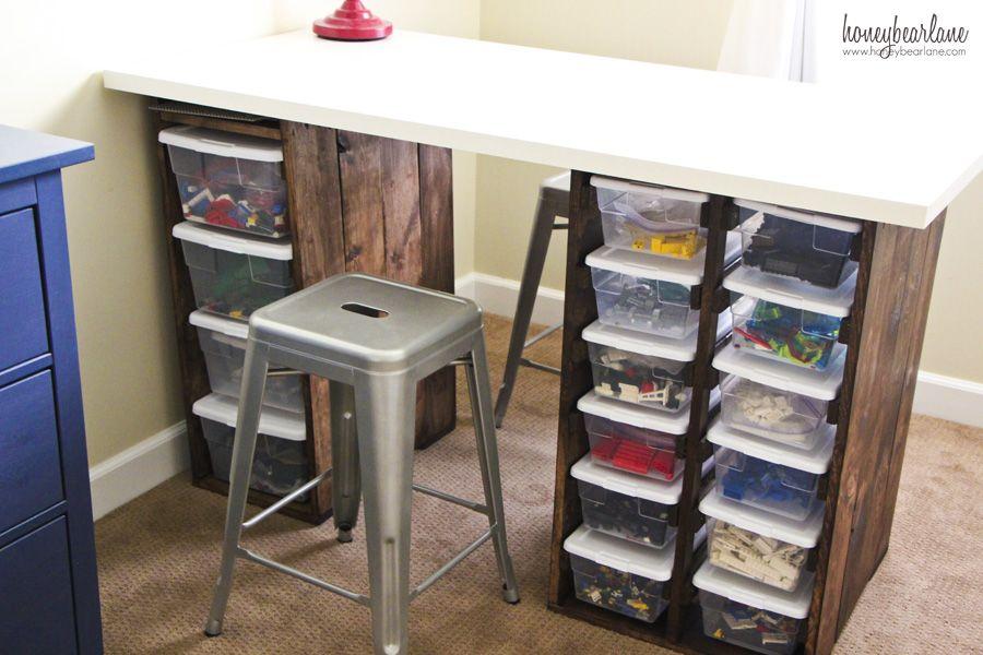 The Ultimate Lego Organizer Lego Desk Desk Storage Lego Room