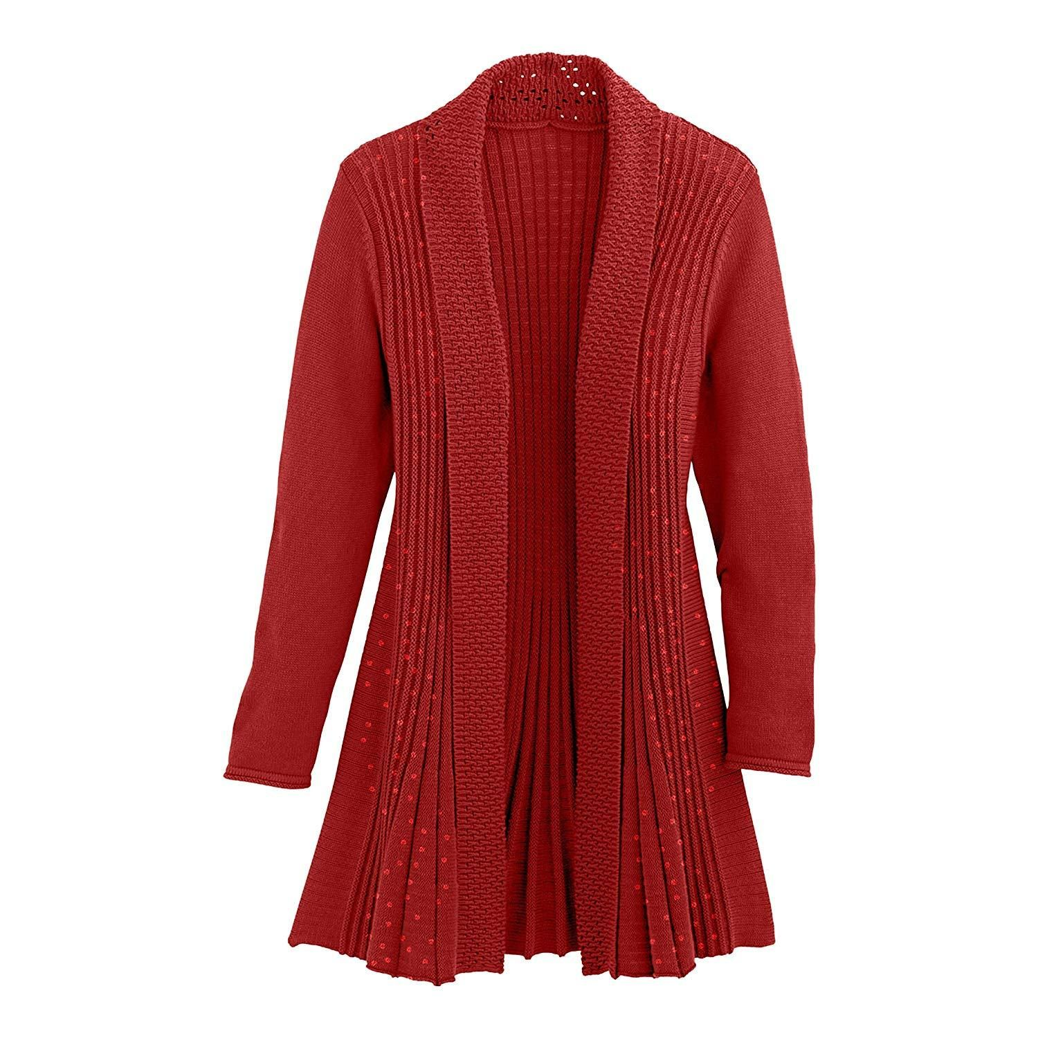 Cardigans for Women Long Sleeve Swingy Midweight Sequin