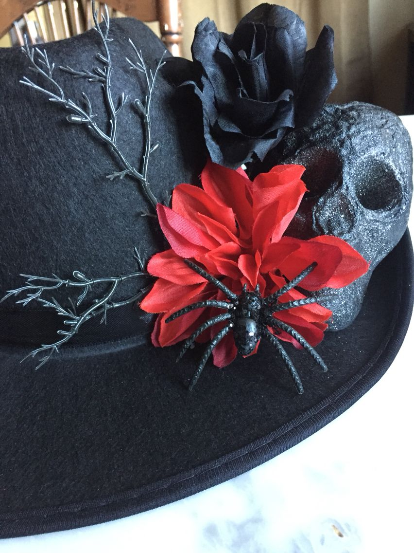 Men s Day of the Dead cowboy hat from Walmart hat and dollar tree  accessories for under  10 b8f0a363a74