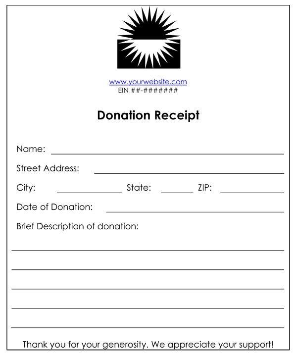 Non-Profit Donation Receipt Purple Pinterest - sample donation request form