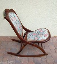 Outstanding Details About Vintage Folding Rocking Chair Wood Sewing Pdpeps Interior Chair Design Pdpepsorg