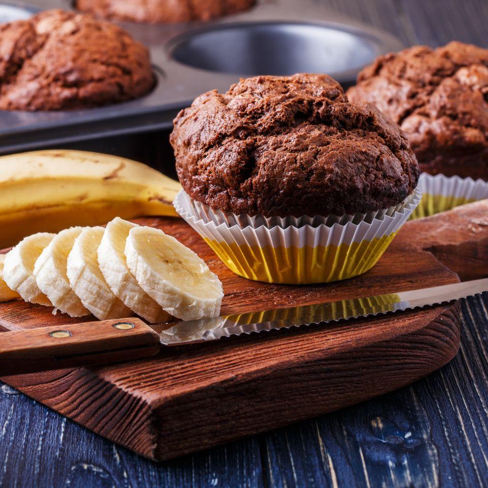 Low Carb Schoko Bananen Muffins