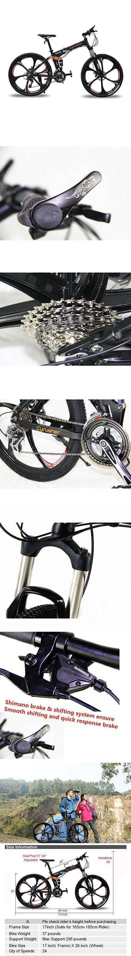 Cyrusher FR100 Men\'s Full Suspenion 24 Speeds Folding Mountain Bike ...