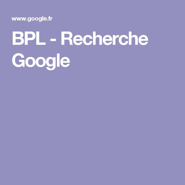 BPL - Recherche Google