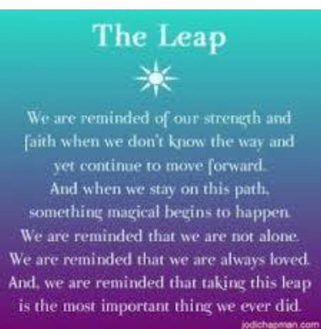 The Leap Quote Change Quote Change Quotes Faith Quotes Faith