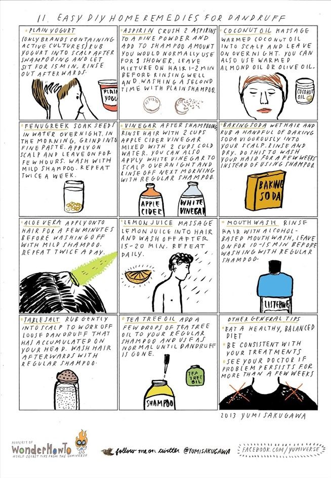 11 Easy DIY Home Remedies for Dandruff « The Secret Yumiverse