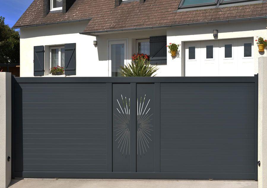 Fresk - décor sur mesure pour portail aluminium Portail