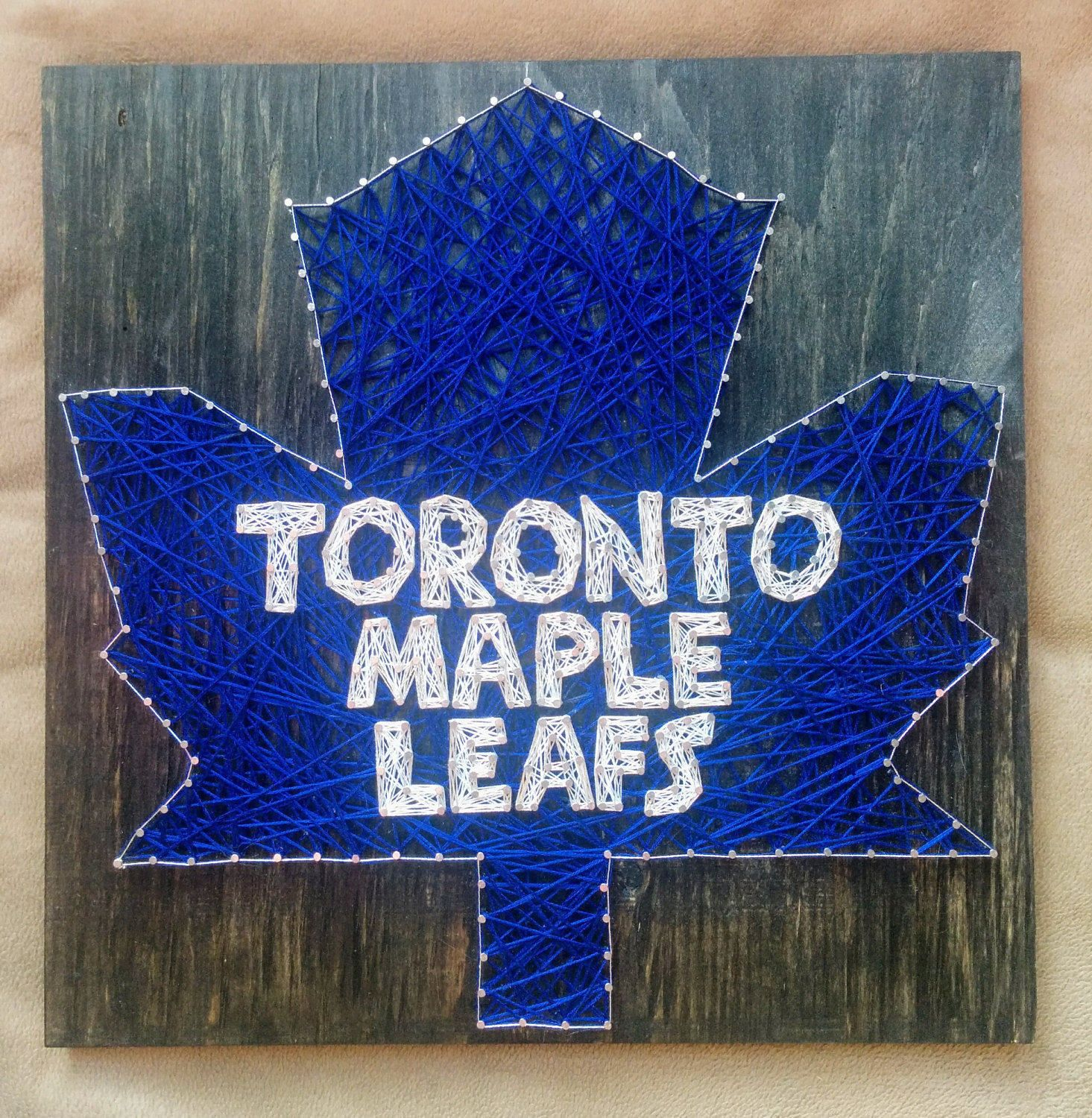 Toronto Maple Leafs Logo By Sayitwithstringart On Etsy Toronto Maple Leafs Toronto Maple Leafs Logo Maple Leafs