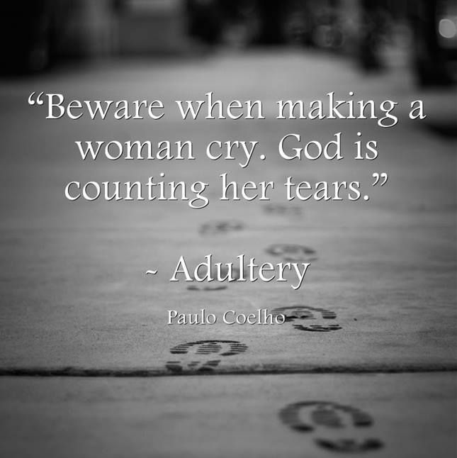 Beware When Making A Woman Cry. God Is Counting Her Tears