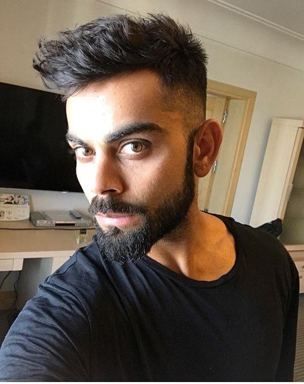Omg Are You Real Virat Kohli Hairstyle Hair Styles Beard