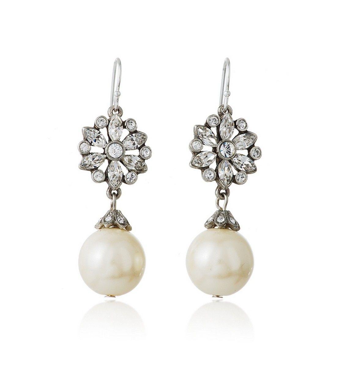 pearl drop earrings bridal