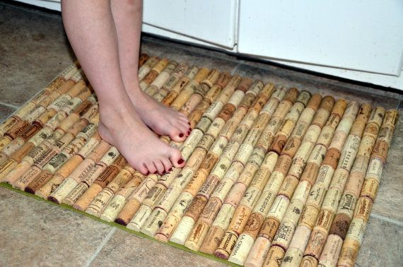 wine cork bath mat kitchen sink floor mat by intrepidillusions we could so make this. Black Bedroom Furniture Sets. Home Design Ideas
