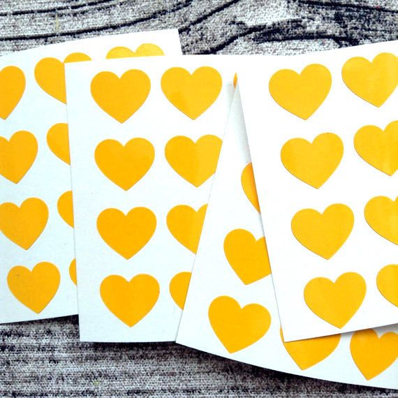 48 yellow vinyl stickers stickers yellow vinyl vinyl stickers yellow stickers vinyl yellow vinyl heart stickers heart vinyl stickers
