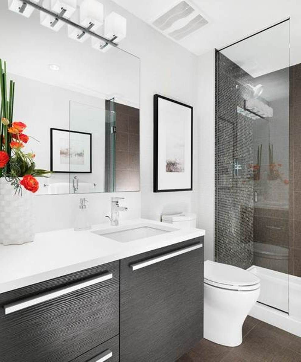 Ideas for small modern bathrooms home art design ideas for Small modern bathroom