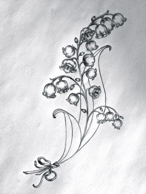 Lydias Tattoo Sketch Lilies Of The Valley Tattoos Tattoos