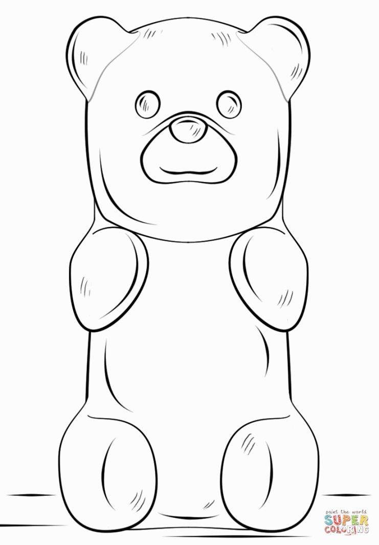 gummy bear coloring pages Gummy Bear Coloring Page | Coloring Pages | Dibujos, Cometas  gummy bear coloring pages