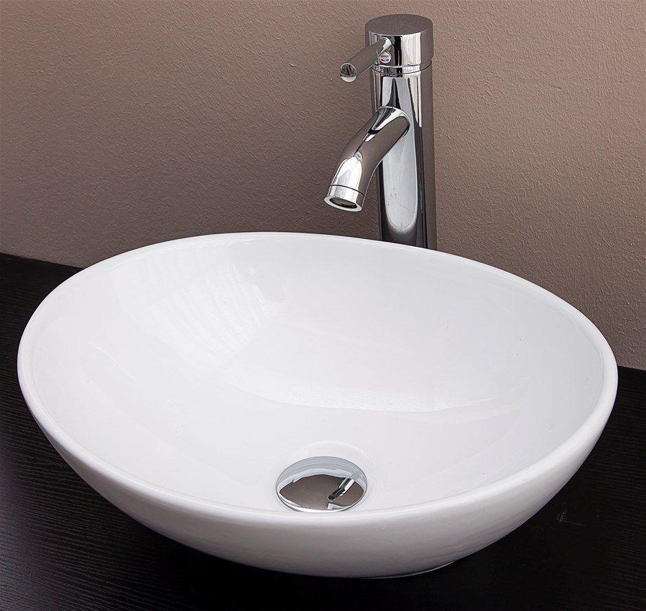 Above Counter Bathroom Vanity Oval Ceramic Basin Bathroom Basin Basin Basin Sink Bathroom