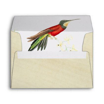 hummingbird birds flowers rice paper envelope animal gift ideas